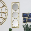 Gold Framed Round Triple Wall Mirror