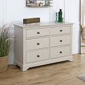 Large Taupe-Grey Chest of Drawers - Davenport Taupe-Grey Range