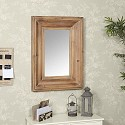 Large Rustic Wood Framed Wall Mirror