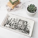 Ceramic Monochrome Buildings Trinket Tray