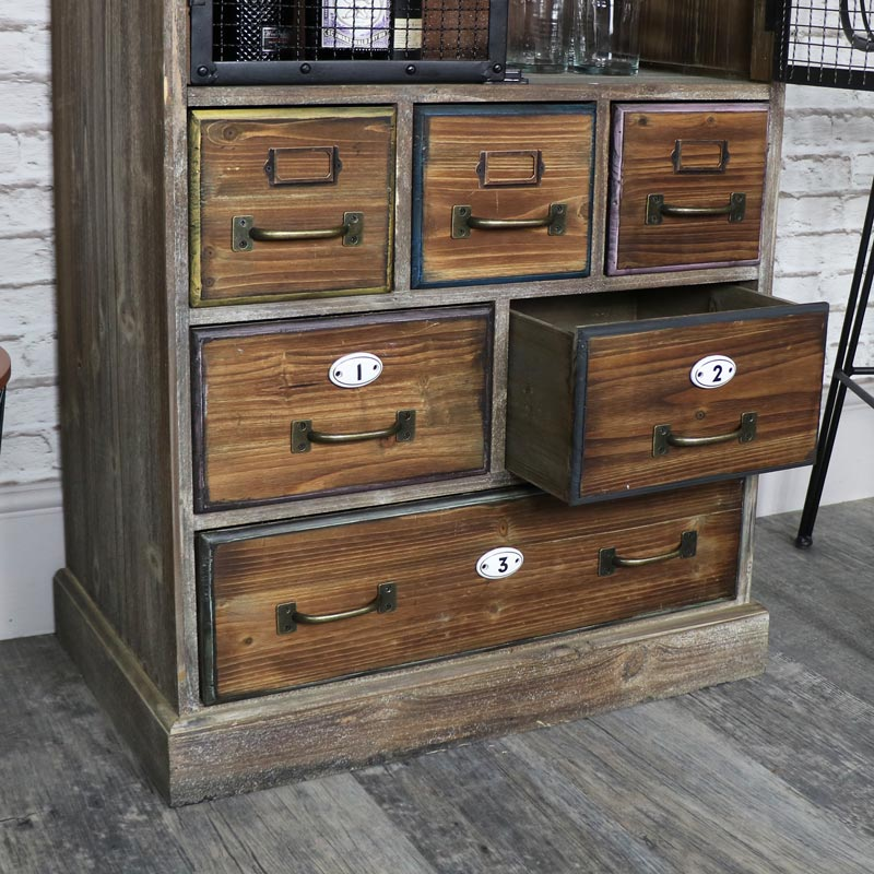 Tall Rustic Industrial Apothecary Cabinet Windsor Browne