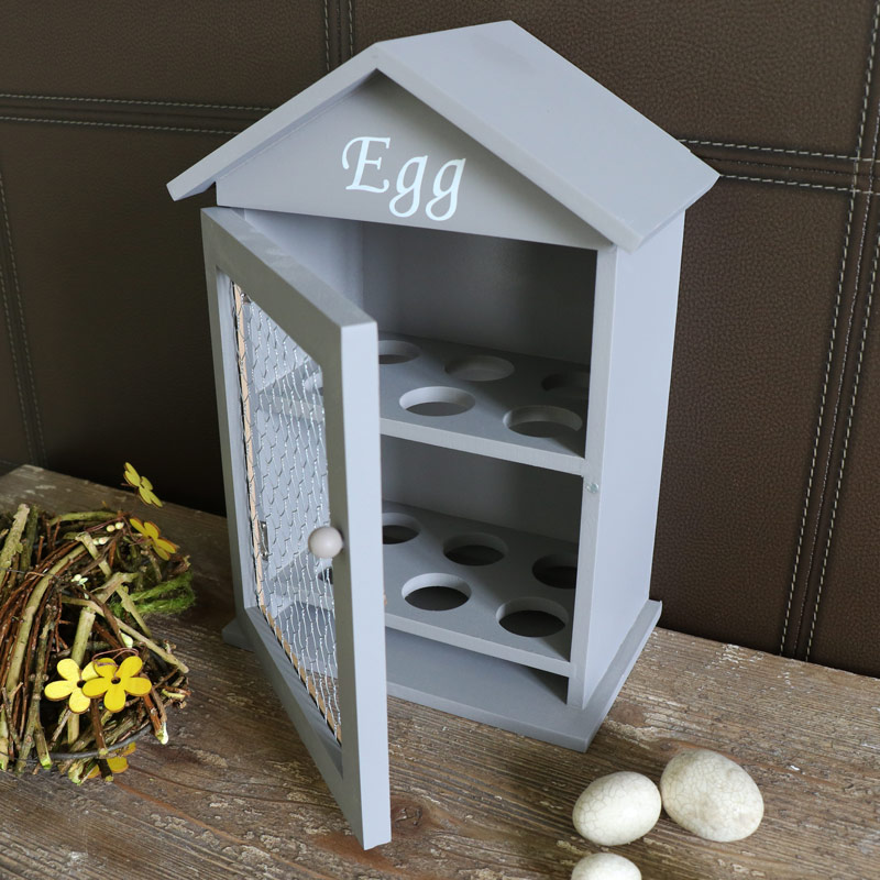 Grey Wooden Egg House Storage Cabinet Windsor Browne