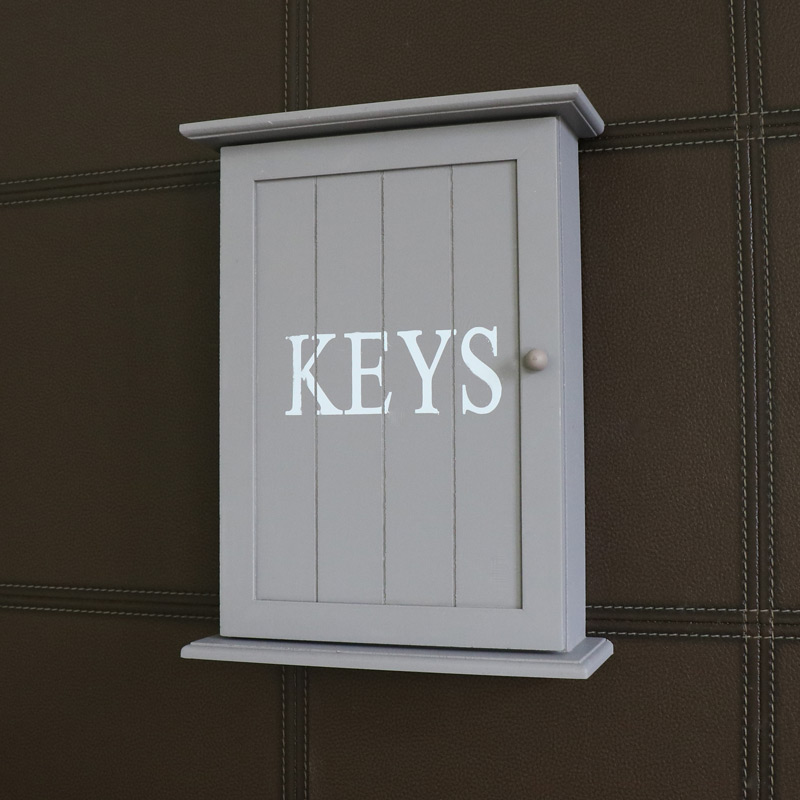 Grey Wall Mounted Wooden Key Cabinet Windsor Browne