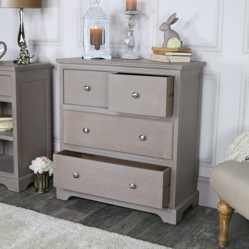 Taupe 4 Drawer Chest Of Drawers Cambridge Range