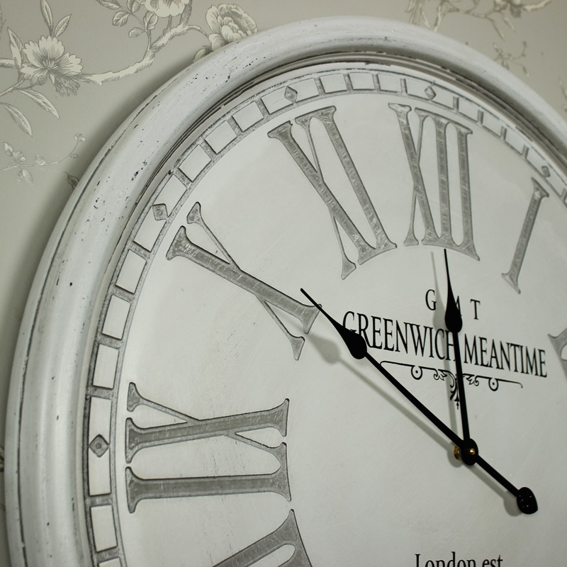 Large Round Grey Wall Clock Windsor Browne