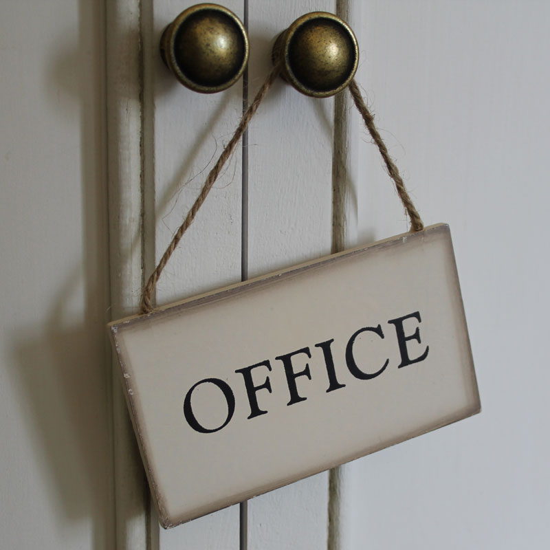 Hanging Vintage Office Sign Hanging Vintage Office Sign ...