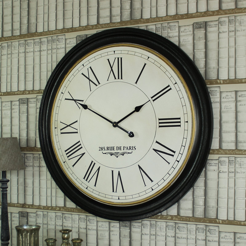 Extra Large Round Wooden Wall Clock Windsor Browne