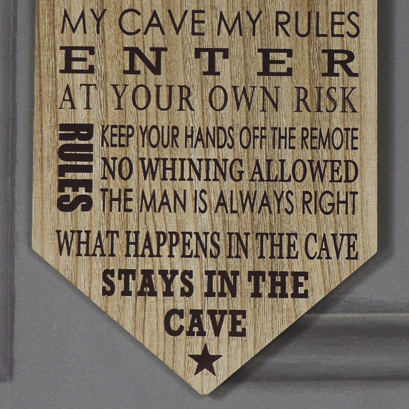 Man Cave Windsor : Humorous man cave rules wall plaque windsor browne