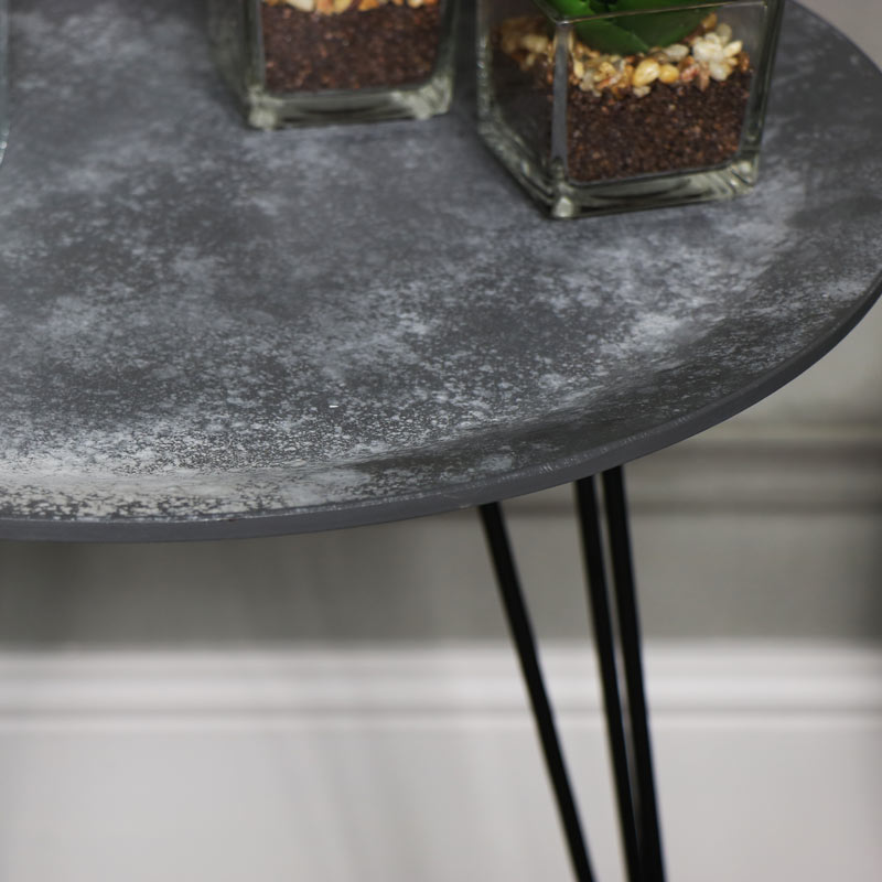 Grey Concrete Effect Topped Side Table Windsor Browne