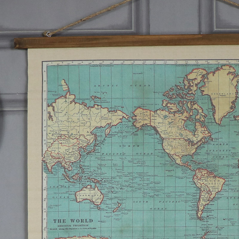 Vintage world map hanging canvas print windsor browne vintage world map hanging canvas print vintage world map hanging canvas print gumiabroncs Gallery