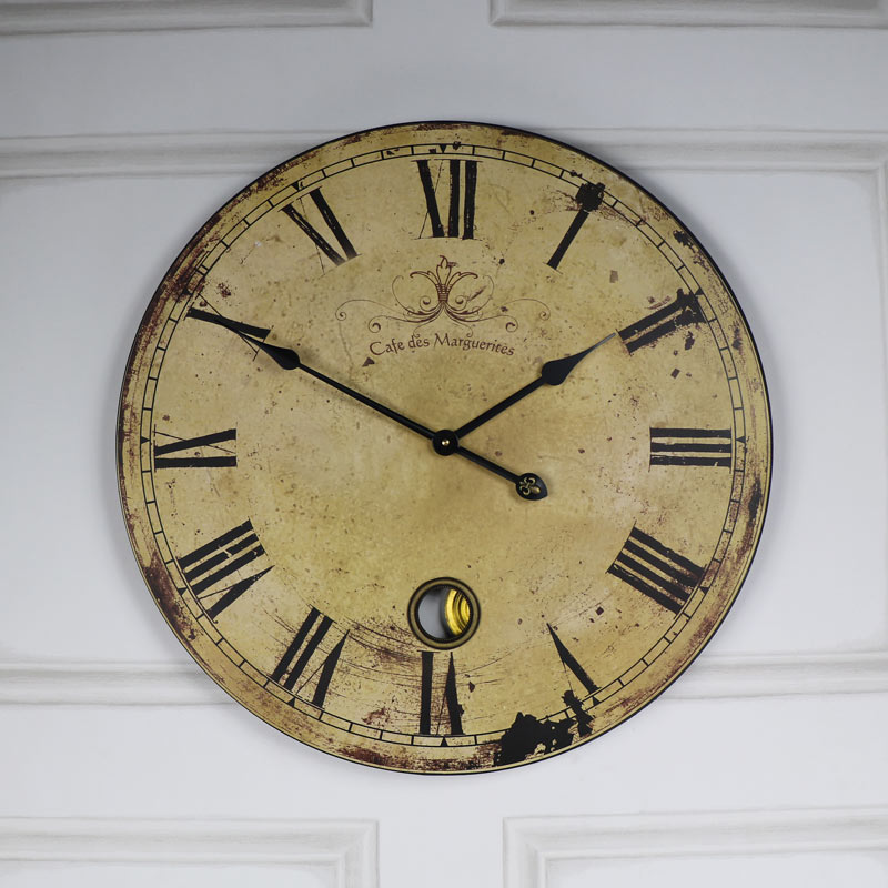 Vintage Large French Cafe Wall Clock Windsor Browne