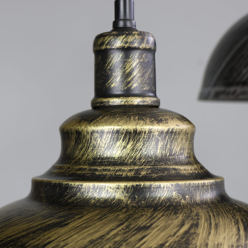 stylish industrial black and gold dome ceiling pendant light