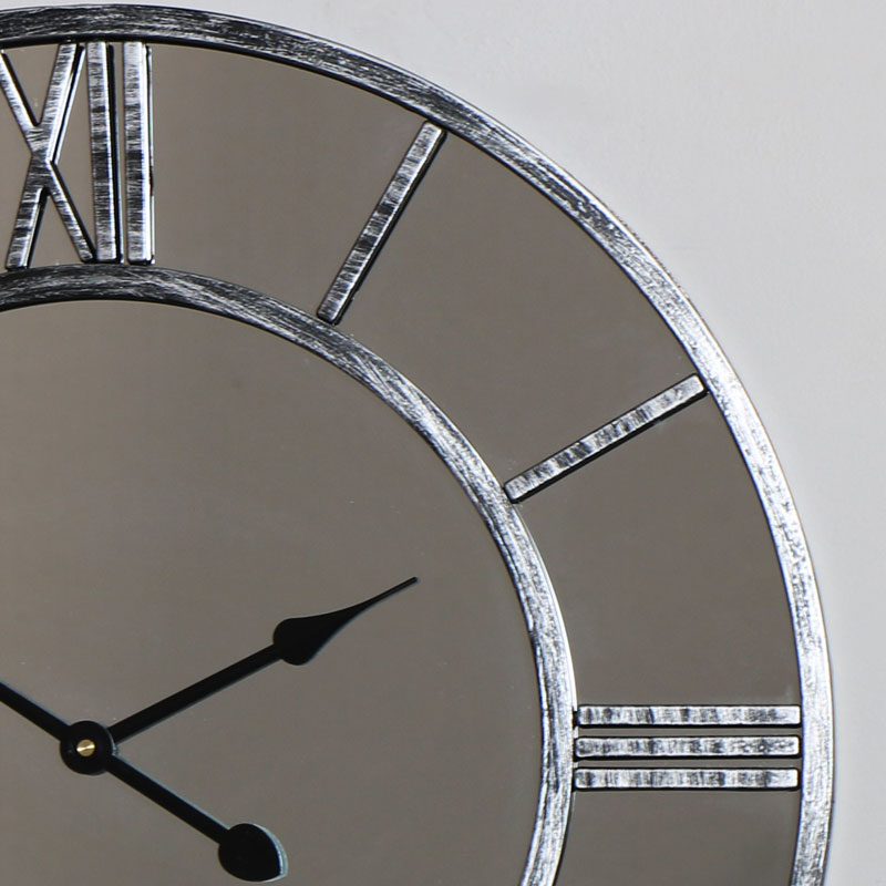 Mirrored Skeleton Style Wall Clock Windsor Browne