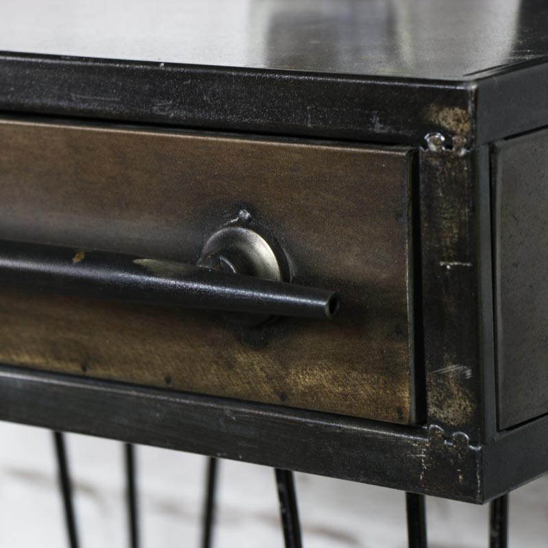 Retro Industrial Metal Bedside Table Windsor Browne