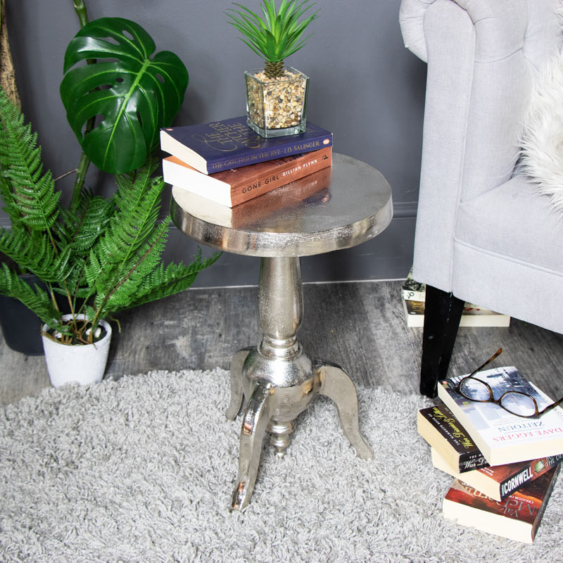 Small Silver Round Side Table Windsor Browne