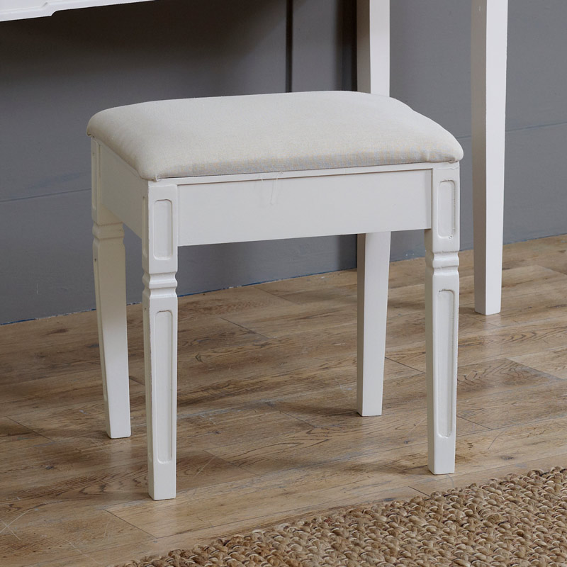 Lyon Range - Cream Padded Stool