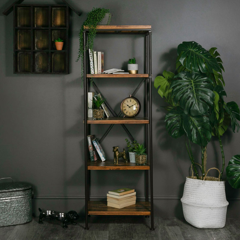 Tall Slim Industrial Shelving Unit