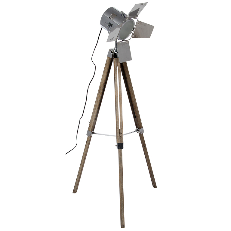 Wooden Base and Chrome Head Film Light