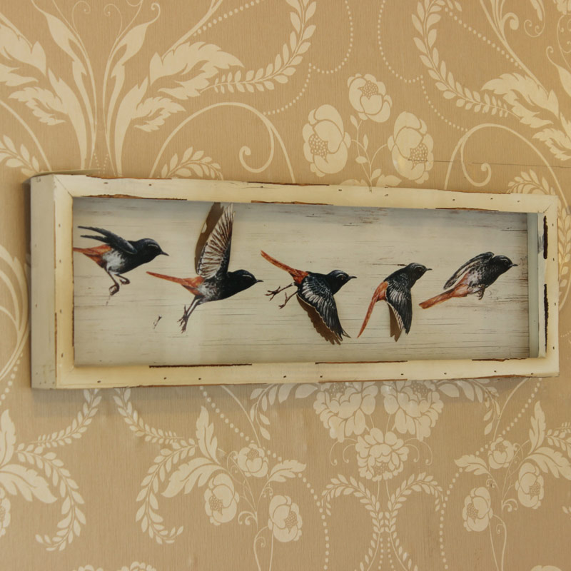 Decoupage Flying Bird Picture