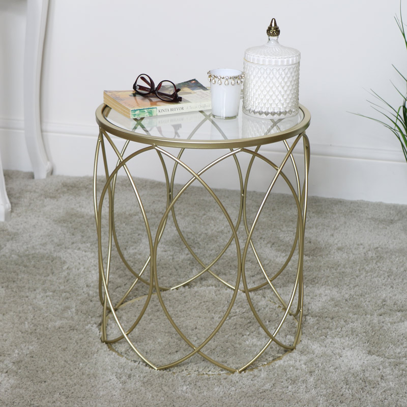 Gold Swirl Occasional Table