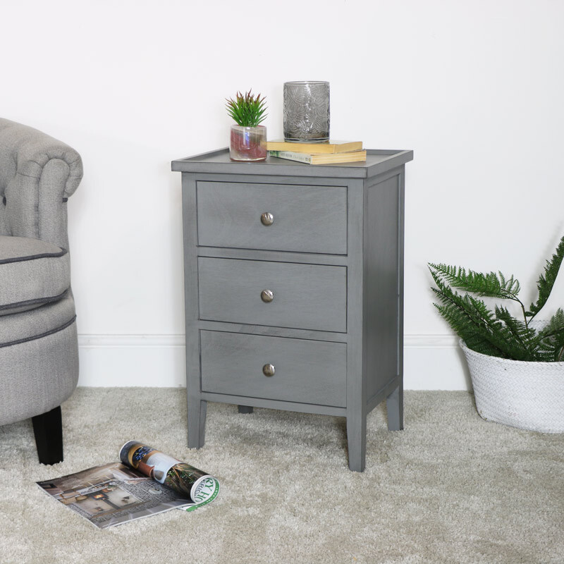 Grey Bedside Table / Side Table