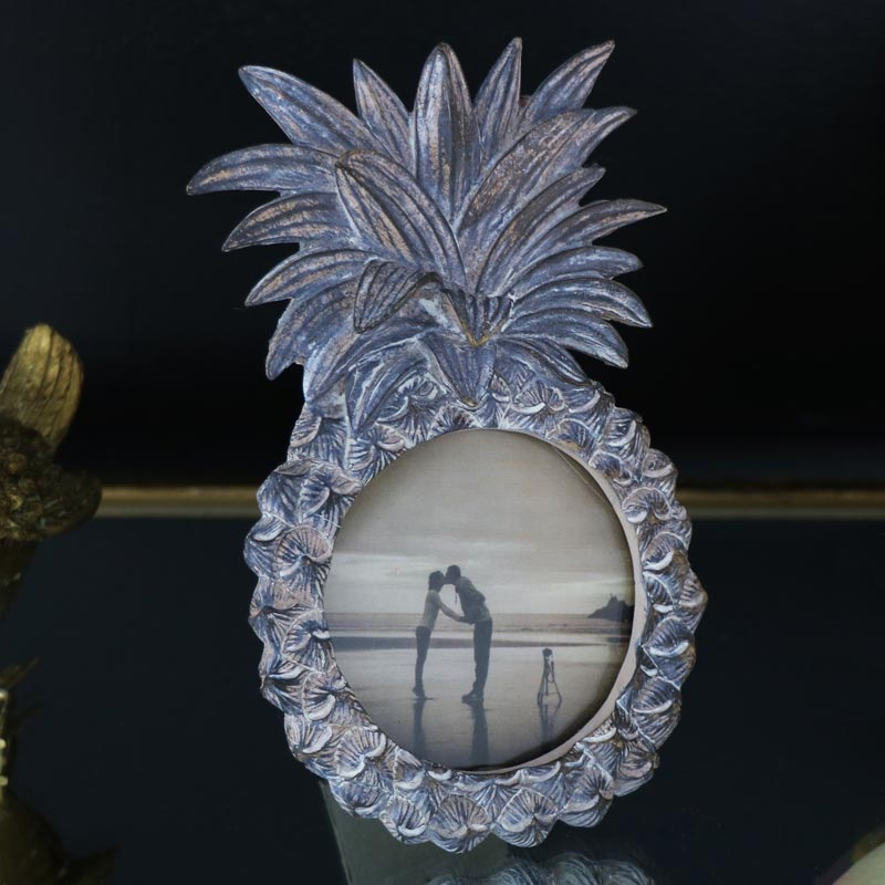 Rustic Pineapple Photograph Frame