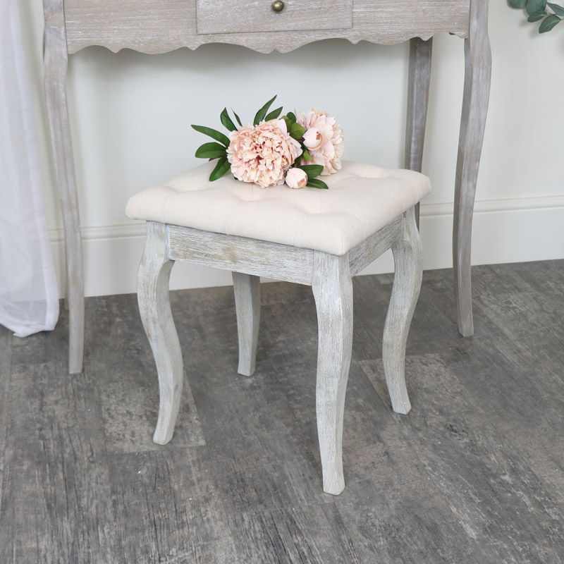 Cushioned Wooden Stool - Temperley Range - SECOND
