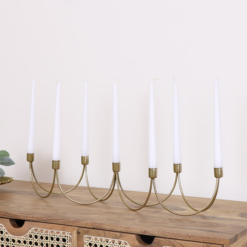 Gold 7 Candle Holder Stand
