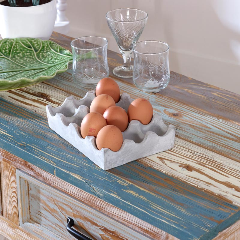 Concrete Egg Holder Tray