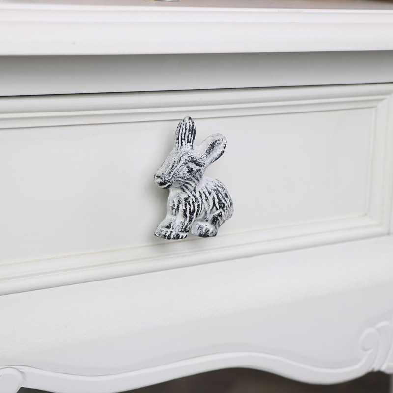 White Rabbit Drawer Knob