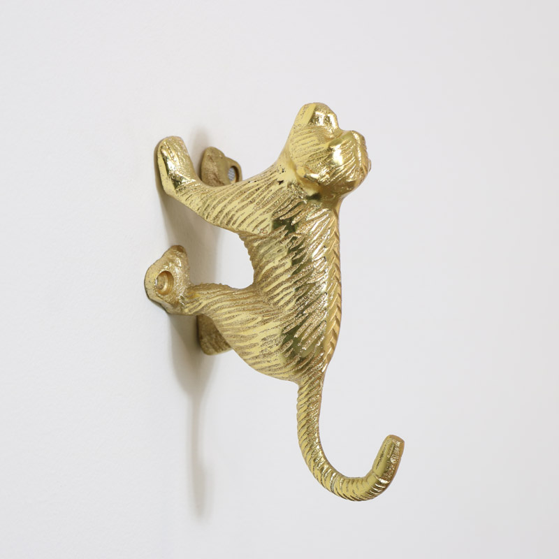 Gold Monkey Wall Hook