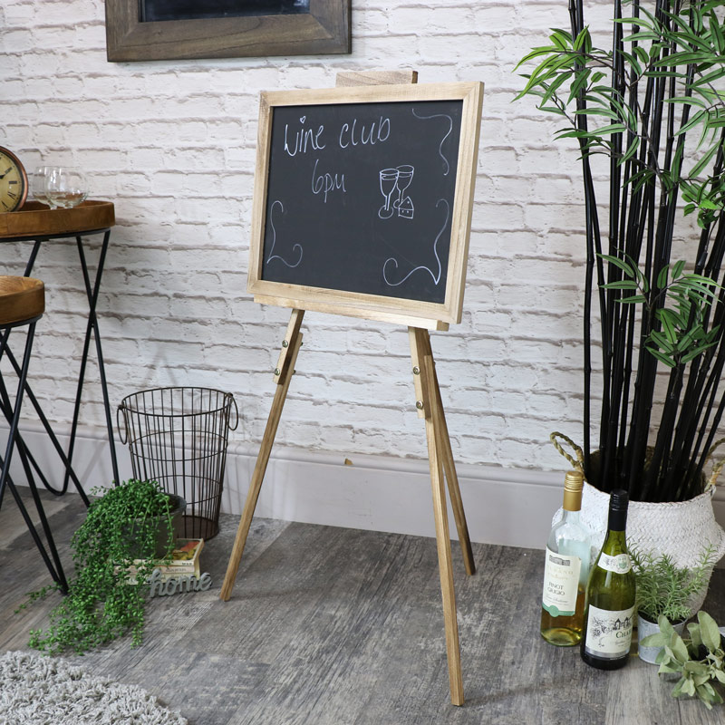 Rustic Wooden Adjustable Easel Chalkboard