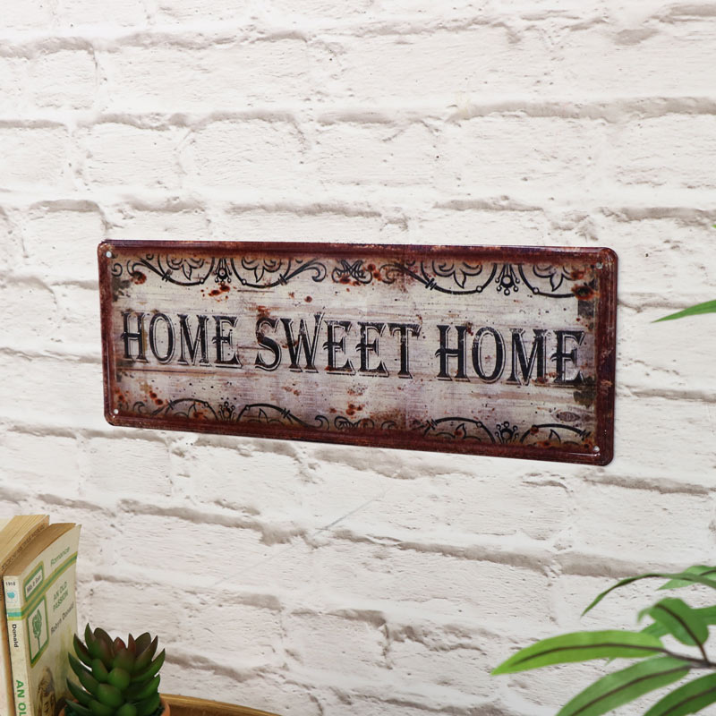 'Home Sweet Home' Metal Wall Plaque