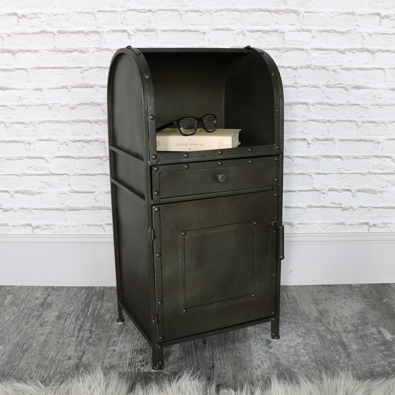 Industrial Style Metal Bedside Cabinet