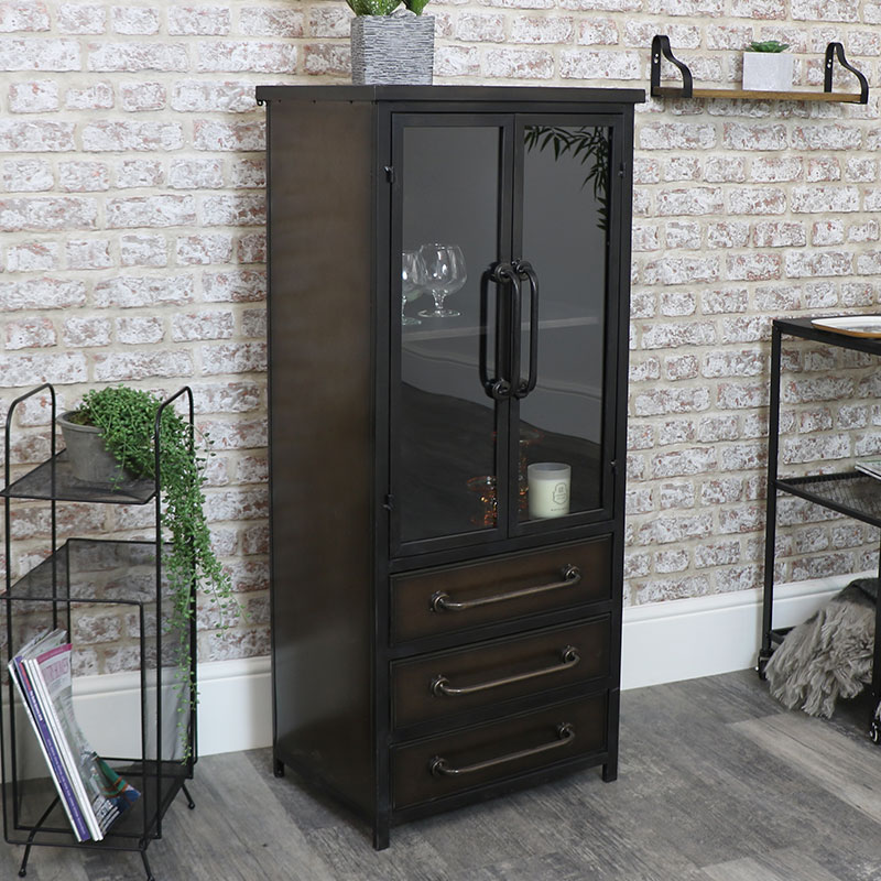 Large Industrial Cabinet with Drawers