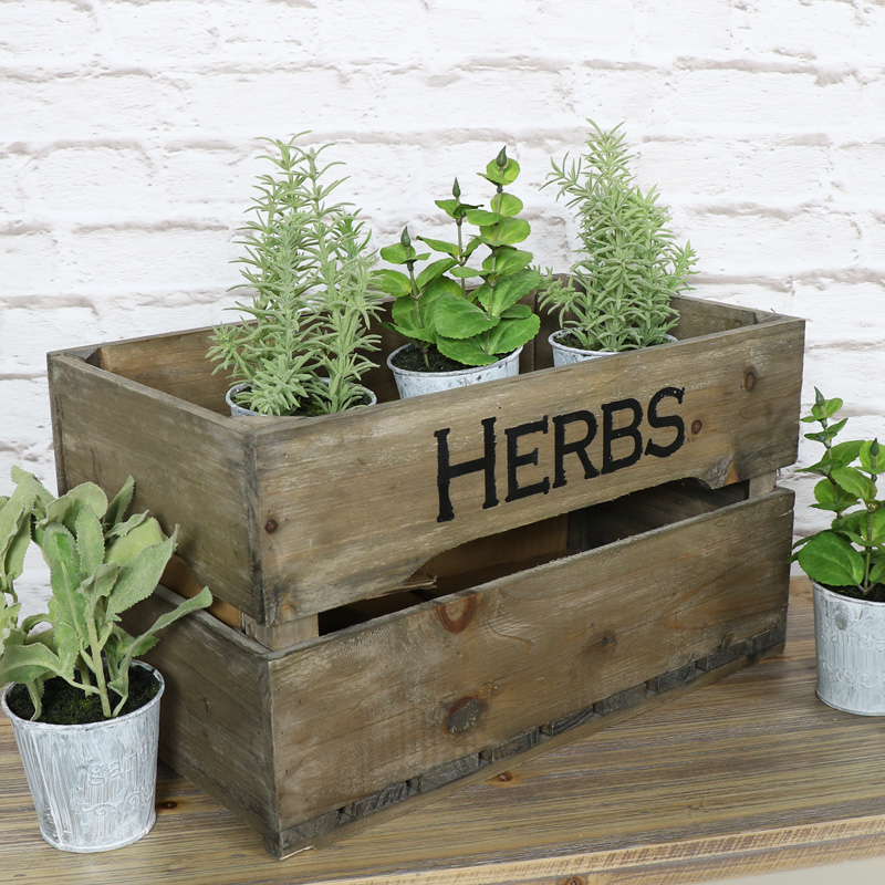 Small Rustic Wooden Storage Crate