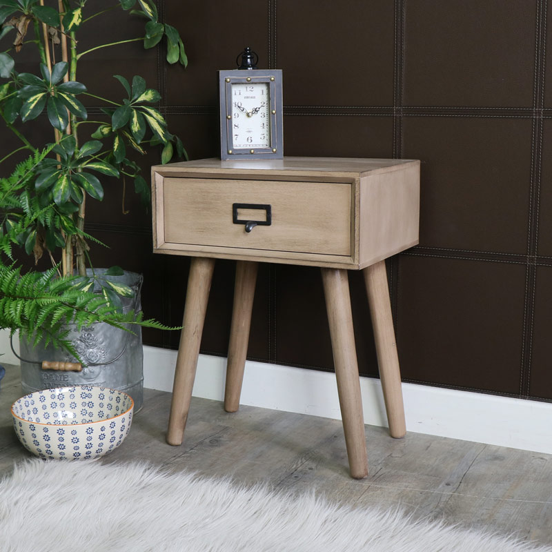 Brixham Range - Wooden Bedside Table