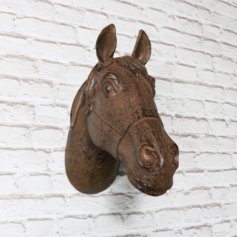 Rustic Decorative Wall Horse Head