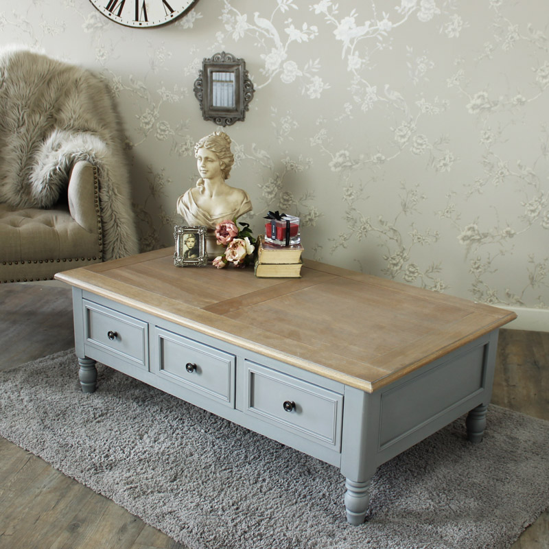 Indore Coffee Table With 6 Drawers: Six Drawer Coffee Table