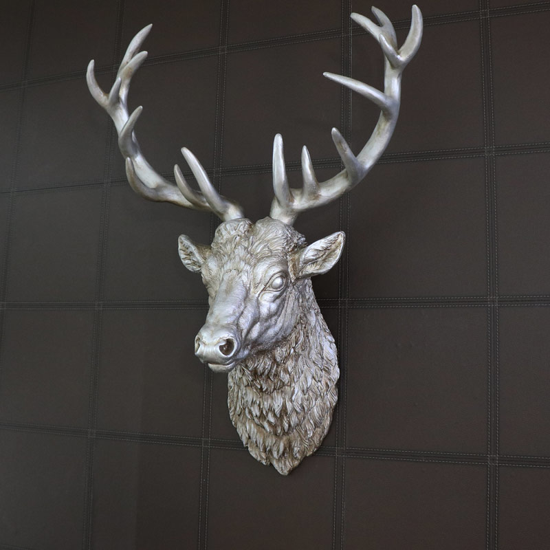 Large Silver Wall Mountable Stag Head Windsor Browne