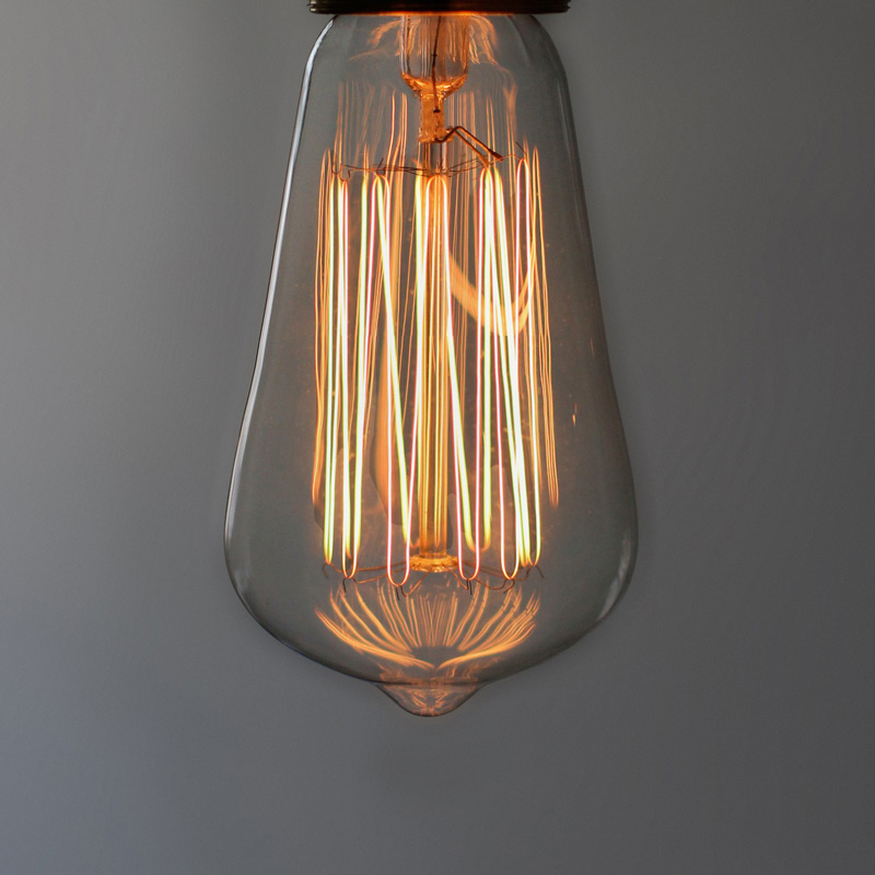 Vintage Tinted Glass Tulip 40W Filament Bulb