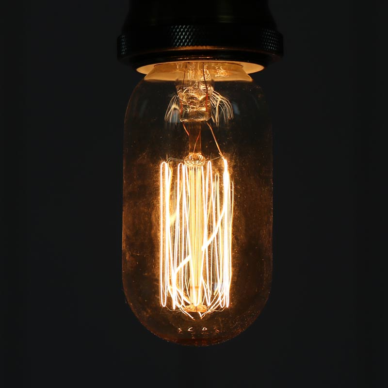 Vintage Tinted Short Tubular Glass 40W Filament Bulb