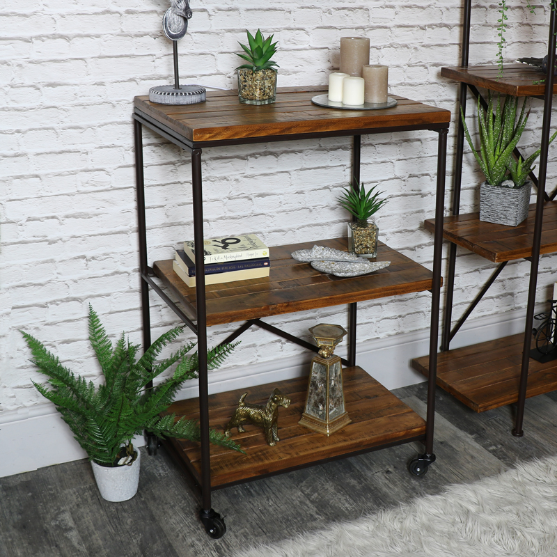 Industrial Shelving Unit on Wheels
