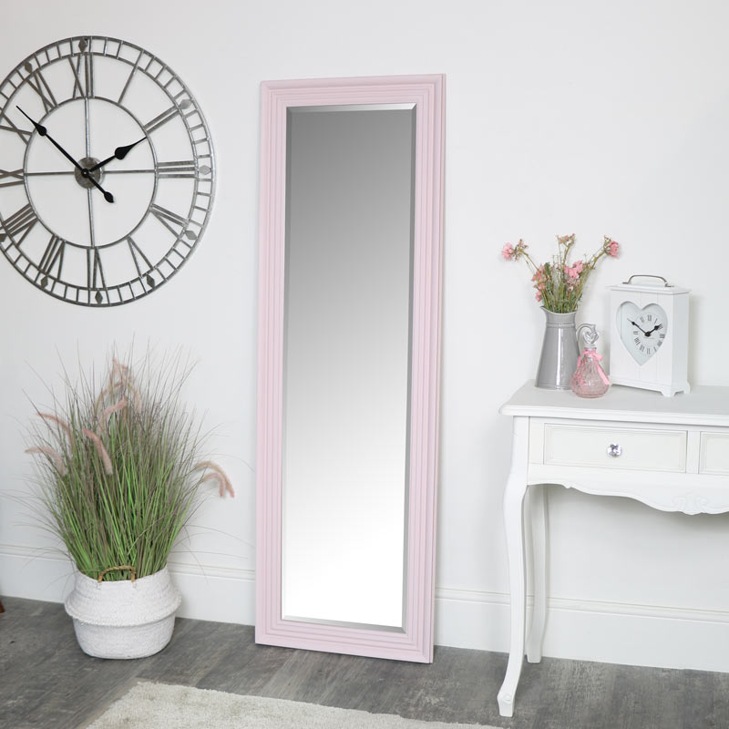 Tall Pink Full Length Mirror 52 x 160cm