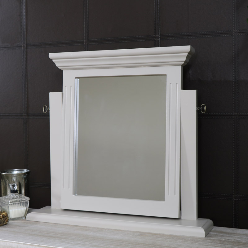Dressing Table Vanity Swing Mirror - Daventry Taupe-Grey Range