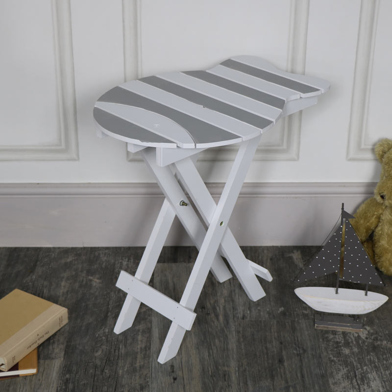 Small Fish Shaped Folding Portable Table