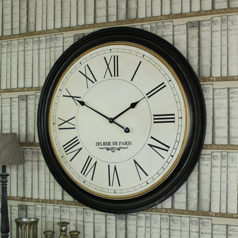 Extra Large Round Wooden Wall Clock