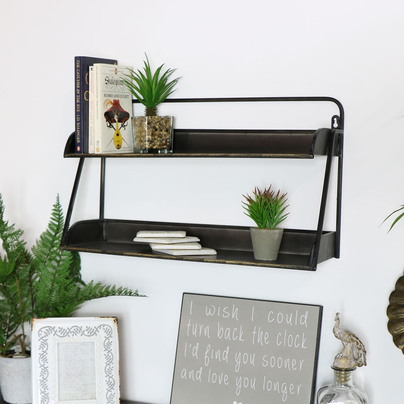 Industrial Brass Shelf Unit