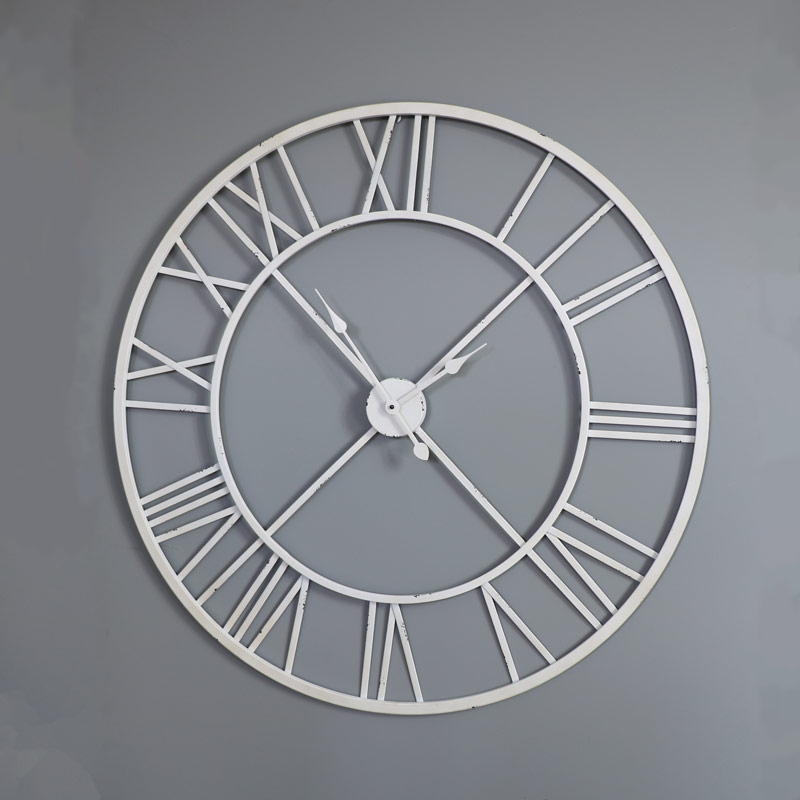 Large White Skeleton Wall Clock Windsor Browne