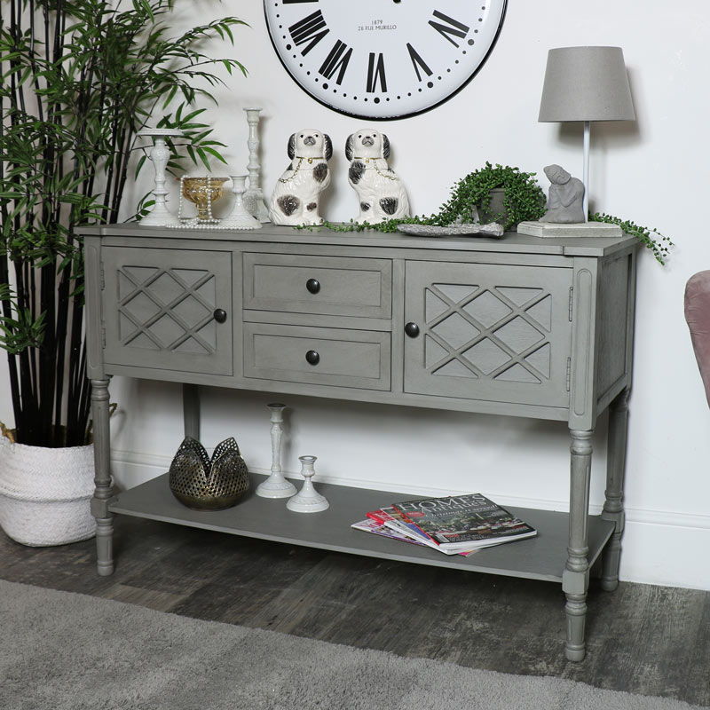 Large Grey Buffet Table/Sideboard - Venice Range
